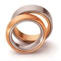 Duo-trouwringen van goud, platina of titanium|Twee-eenheid
